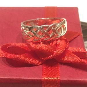 Irish Silver Celtic Knot Ring 925 - Sz 7